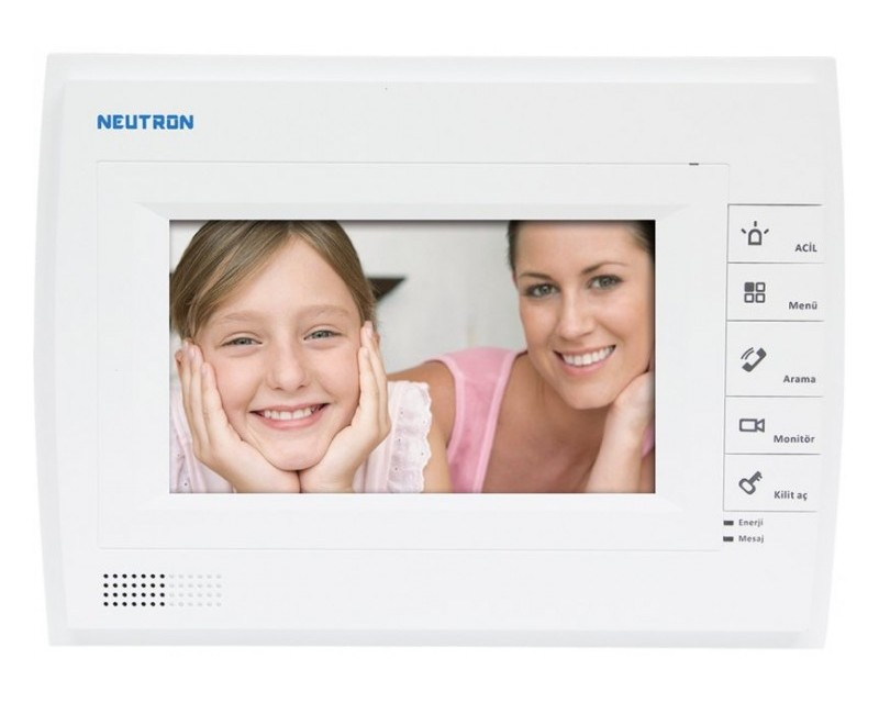 Görüntülü Diafon Sistemi Neutron  VTH1520AH LCD Dokunmatik Diyafon Sistemi Ekranı